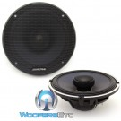"Alpine X-S65 6.5"" 110 Watts RMS Type-X Series Coaxial Speakers"