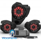 Rockford Fosgate RZR14RC-STG3 Audio Upgrade Kit for Select 2014-Up Polaris RZR Models with Ride Command