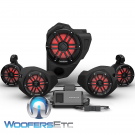 Rockford Fosgate RZR14RC-STG4 Audio Upgrade Kit for Select 2014-Up Polaris RZR Models with Ride Command