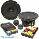 "ES-062i - CDT Audio 6.5"" 250W RMS 2-Way ES-Gold Series Component Speakers System"