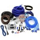 Performance Kit PP-Q0 - 8500W 0 + 4 Gauge Dual Amp 3 RCA Amplifier Complete Wire  Kit