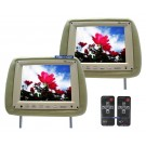 "2 Tan 8.4"" Headrest Screen TFT LCD Pillow TV Monitors"