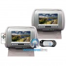 """XO Vision GX7108 Grey 7"""" Headrest TV Monitor with Multimedia Player"""