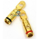 RT-8545 Gold - Perfomance Teknique 8 Gauge Ring Terminal