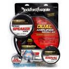 RFK4D - Rockford Fosgate 4 AWG Complete Dual Amplifier Installation Kit