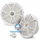 "Wet Sounds SW-808-W 8"" 125 Watts RMS Marine Convertible Coaxial Speakers (White)"