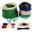 AK-013 Green - GD Deluxe 0 AWG 5000 Watt Amplifier Installation Kit