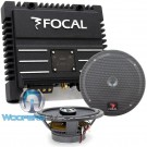 "pkg Focal 165CA1 6.5"" 2-Way Coaxials + SOLID2 Black 2-Channel Amplifier"