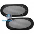 "4"" x 10"" Grills - American Accessories Universal Steel Mesh Speaker Grills"