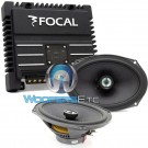 "pkg Focal 690CA1 SG 6"" x 9"" 2-Way Coaxial Speakers + SOLID-2 2-Channel Amplifier"