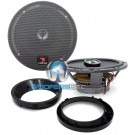 """pkg Focal 165CA1 6.5"""" 2-Way Coaxial Speakers + Arc Audio 6.5"""" Speaker Adapter Rings"""