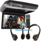 "PKG-RSE3DVD - Alpine 10.2"" Overhead Video Monitor with Built-In DVD Player"