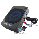 "Soundstream SB.8AM 8"" 350W Under Seat Enclosed Subwoofer and Amplifier"