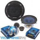 "Audiobahn ABC525T 5.25"" 120W RMS 2-Way Component Speakers System"