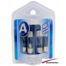 AGU5B - Audiobahn 4 Pieces AGU 5 Amp Fuse Pack with Blown Fuse Blue Lamp Indicator