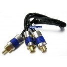 CSY2FK - Audiobahn Connections 2 Female 1 Male 1 Foot Length RCA Y-Adapter
