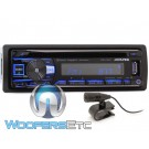 Alpine CDE-175BT In-Dash 1-DIN CD Car Stereo Receiver with Pandora, SiriusXM Ready, Pandora, Bluetooth and iPhone Compatible