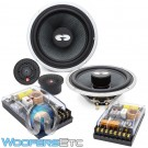 "CDT Audio CRM-62iMKiS 6.7"" Slim Inverted Magnet 2-Way Component Speakers System"