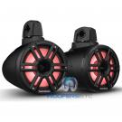 "Rockford Fosgate M2WL-8HB Black 8"" LED Marine Boat Wakeboard Tower Horn Speakers"