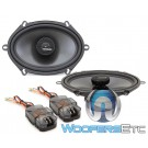 "MEMPHIS MCX57 5""x7"" Carbon Fiber Coaxial 2-Way Aluminum Tweeters Speakers"