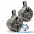 "MWT-80 Titanium - Power Acoustik 8"" 750W Max Marine Grade Tower Speakers"