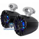 "Memphis MXA60TB 6.5"" Black Powersport Marine Boat LED Lights Tower Speakers"