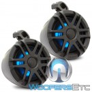 "Memphis MXA62PS 6.5"" 75W RMS 2-Way Marine Powersports Coaxial Speaker Pods"
