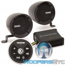 "Memphis MXABMB2BT 3"" Bullet Style MXA Powersports Speaker Kit with Bluetooth (Black)"
