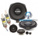 "Gladen ONE 201 BMW ALPHA 8"" 85W RMS 3-Way Component Speakers System"