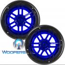 "Power Acoustik MFL-65WB Black 6.5"" Marine LED Light Coaxial Speakers"