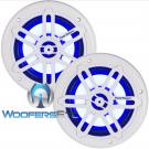 "Power Acoustik MFL-65WB White 6.5"" Marine LED Light Coaxial Speakers"