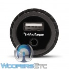 Rockford Fosgate PAUX All-Weather Panel-Mount USB/AUX Input