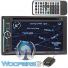 "Power Acoustic PDN-623B In-Dash 2-DIN 6.2"" LCD DVD Receiver with GPS Navigation, Bluetooth Connectivity and USB"
