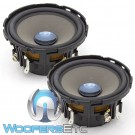 "MB Quart PMD-100 4"" 50W RMS Premium Midrange Speakers with 4""x6"" Brackets"