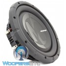 "Memphis PRXS1044 10"" 350W RMS Dual 4-Ohm Power Reference Shallow Subwoofer"