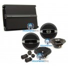 "pkg Focal Auditor R165S2 6.5"" Component Speakers + R165C 6.5 Coaxial Speakers + R4280 4-Channel Amplifier"
