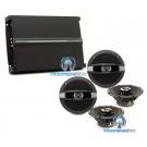"""pkg Focal (2) R-165C 6.5"""" Coaxial Speakers + R4280 4-Channel Amplifier"""