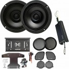 """Memphis Audio MXAHDPRO2 6.5"""" 4-Channel Motorcycle Coaxial Speakers with Direct OEM Kits"""