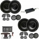 """Memphis Audio MXAHDPRO4 6.5"""" 4-Channel Speakers Upgrade Kit for Select Harley Davidson"""
