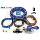 Soundstream WK-00X 0 Gauge Amplifier Complete Installations Kit Twisted RCA Jack