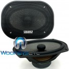 "Sundown Audio SA-69CX v2 6"" x 9""  125W RMS 2-Way Silk Tweeters Coaxial Speakers"