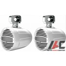 """Hertz HTX 8 M-CL-W 8"""" White RGB LED Wakeboard Speakers & Clamps"""