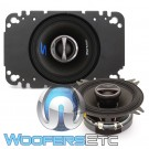 "Alpine S-S40 4"" 45W RMS 2-Way Coaxial Speakers"