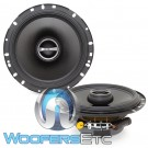 "Alpine S-S65 6.5"" 80W RMS 2-Way Coaxial Speakers"