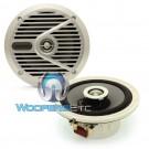 """SPS-M601 Silver - Alpine 6.5"""" 110W Peak 2-Way Marine Coaxial Speakers"""