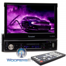 """TI-895B - Farenheit In-Dash 1-DIN 7"""" Motorized Flip-Out LCD Touchscreen DVD/CD/USB Receiver with Bluetooth V4.1"""
