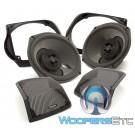 """Rockford Fosgate TMS69BL14 6"""" x 9"""" Full Range Speaker Kit for Select 2014-Up Harley Davidson Motorcycles"""