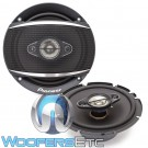 "Pioneer TS-A1680F 6.5"" 80W 4-Way A-Series Coaxial Speakers"