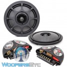 "Morel Virtus Nano Integra 602 Carbon 6.5"" 100W RMS 2-Way Component Speakers Sytem"