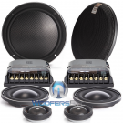 """Morel VIRTUS NANO CARBON 63 6.5"""" 100W RMS 3-Way Component Speakers System"""